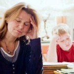 Divorce Helper - When there is a missing spouse, sad mom, depressed woman with son