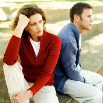 Divorce Helper - upset couple